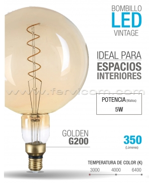 Bombillo LED Vintage G200 5W