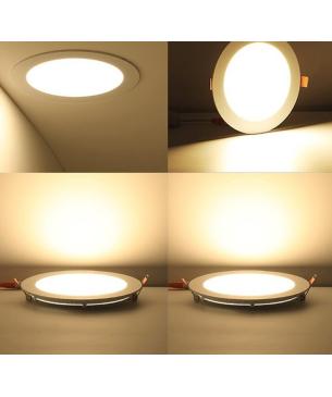 Paneles LED redondo de Incrustar Cálido