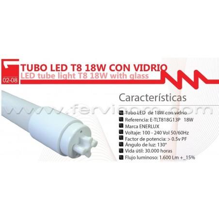 Tubo Led 120 cm Blanco Vidrio