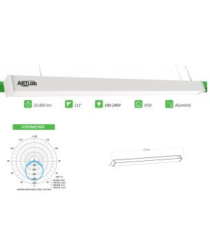 Luminaria Lineal 120cm...