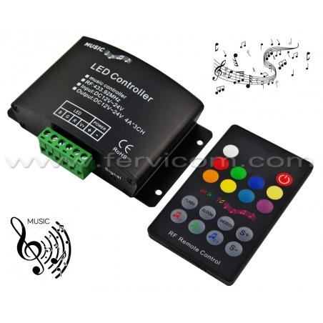 Controlador RGB 12 Amp Musical