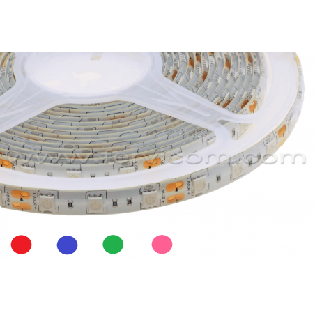 Cinta Led ECO 5050 Siliconada Colores