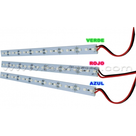 Regleta Led de Color 12V 72Leds