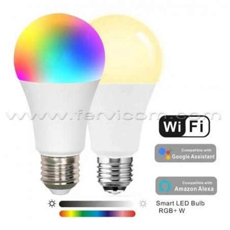 Bombillo Inteligente Wifi RGB + Blanco + Calido 7w