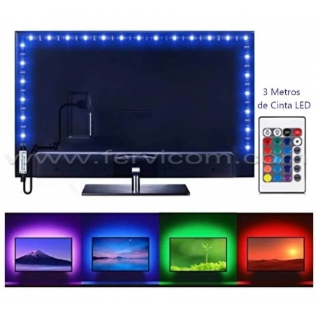 Kit Cinta Led Rgb Usb Para Tv Y Pc X 3 Mt