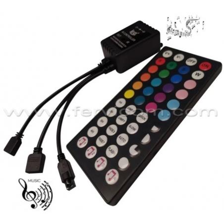 Controlador RGB 44T Musical 6 Amp