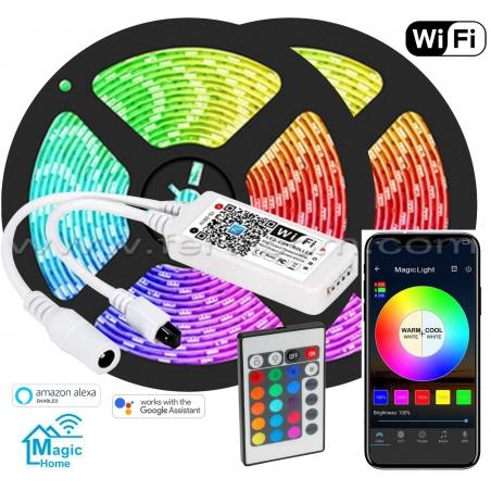 Kit 10mt Cinta LED RGB Wifi Alexa