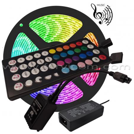 Kit 5mt Cinta LED RGB Musical