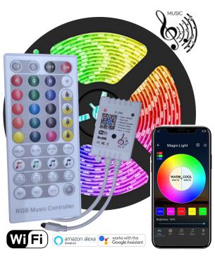 Kit 5mt Cinta LED RGB...