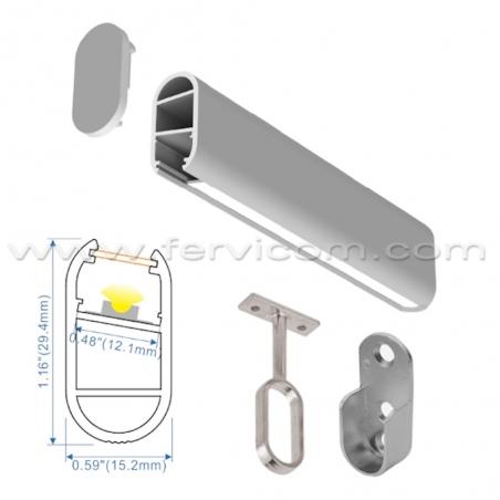 Perfil Aluminio CS1530 Closets