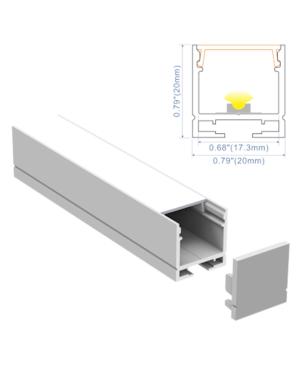 Perfil Aluminio R2020