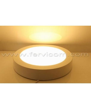 Paneles LED redondo de sobreponer Calido