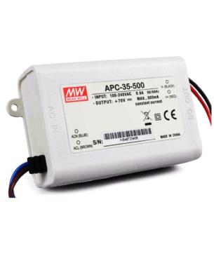 500mA@25-70V Driver LED Mean Well APC-35-500