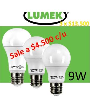 Bombillo LED 9W Lumek  Pack...