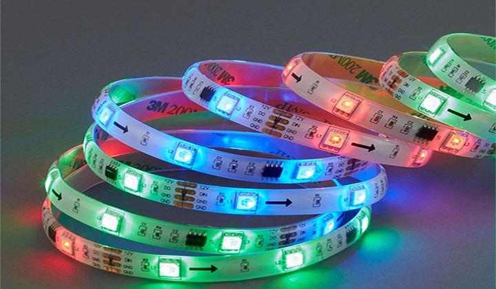 Cinta LED RGB y Pixel
